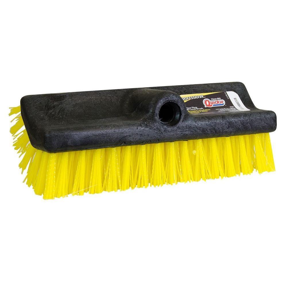 """Broom 10"""" Bi-level Brush Yellow/Black"""