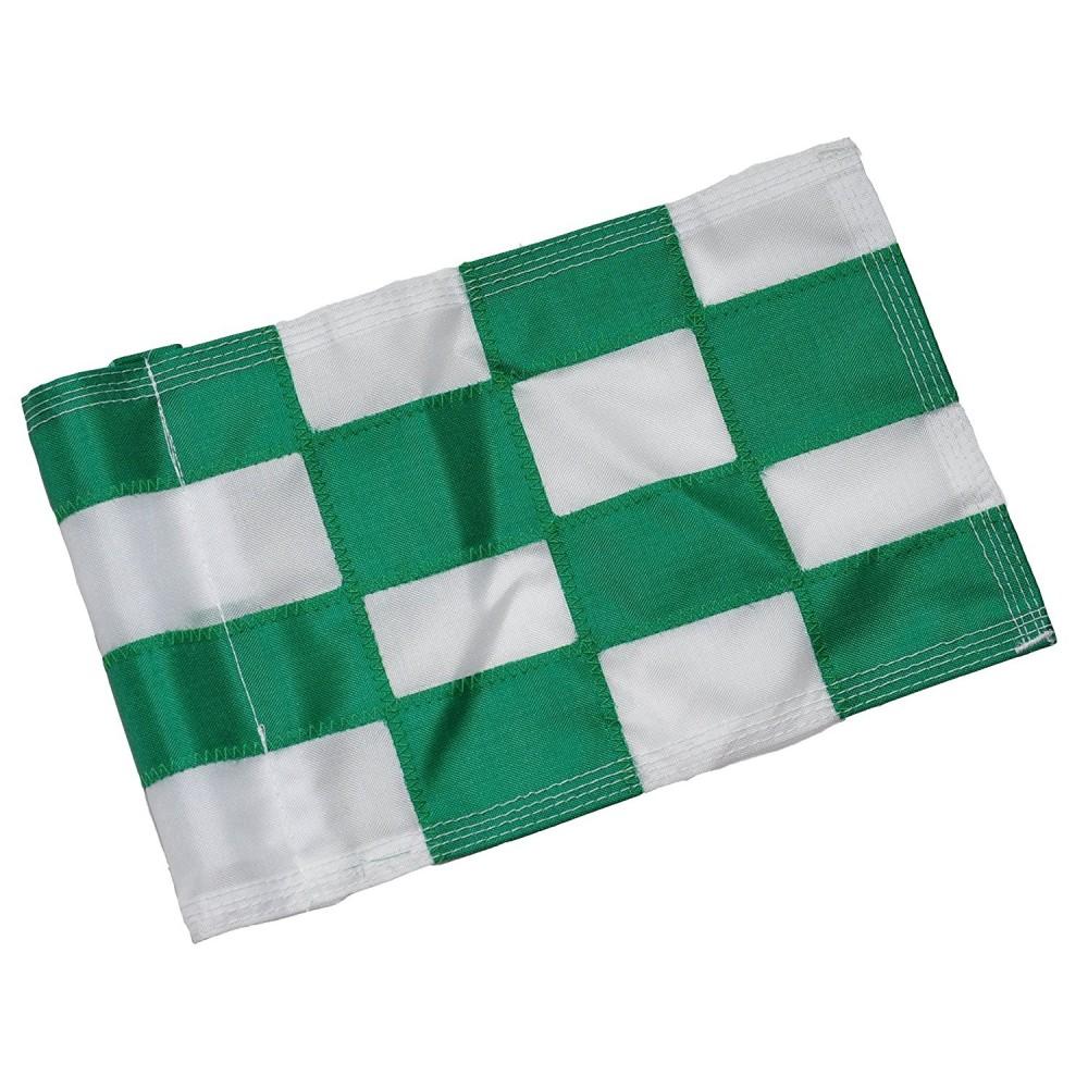 Checkered Flag Green & White Large
