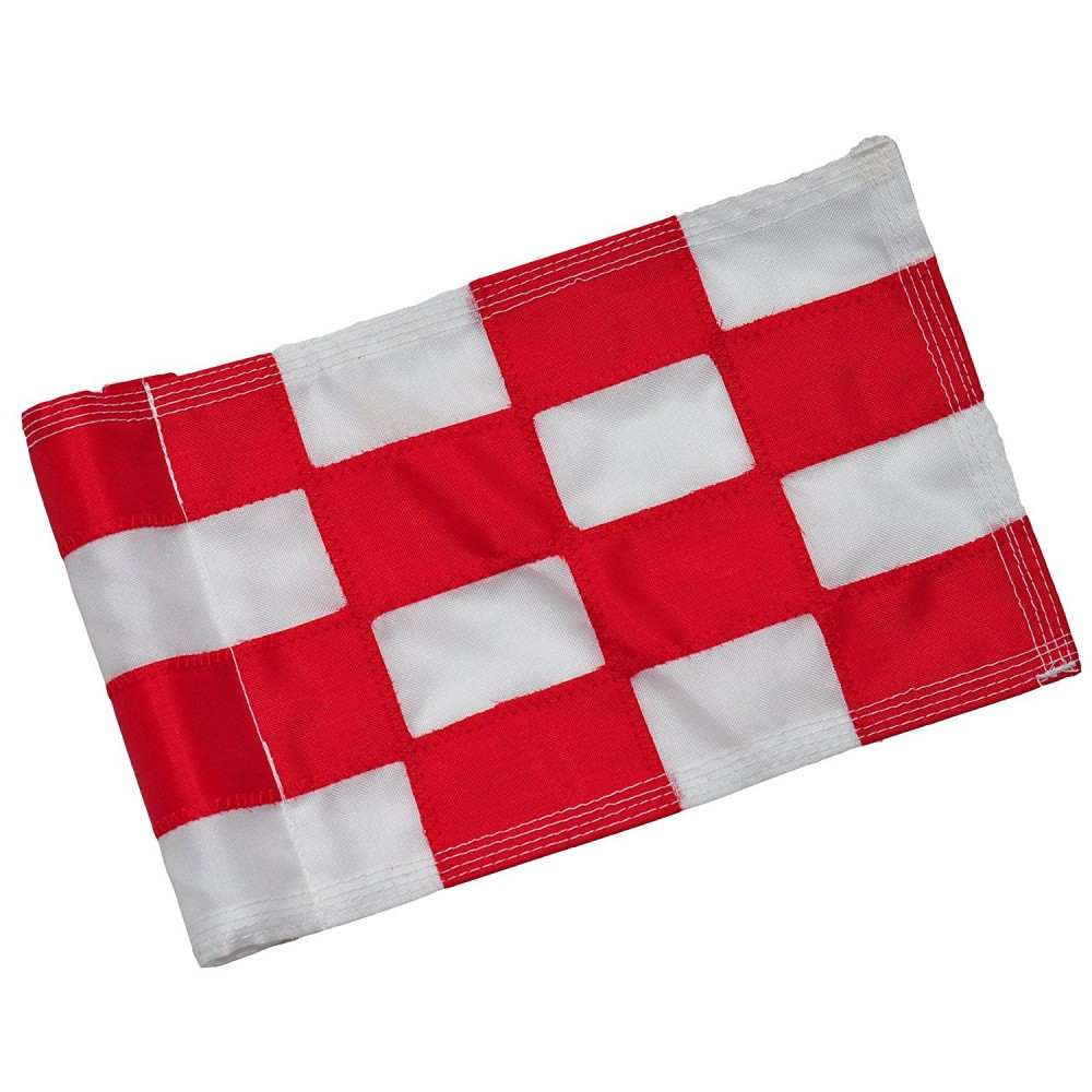 Checkered Flag Red & White Large