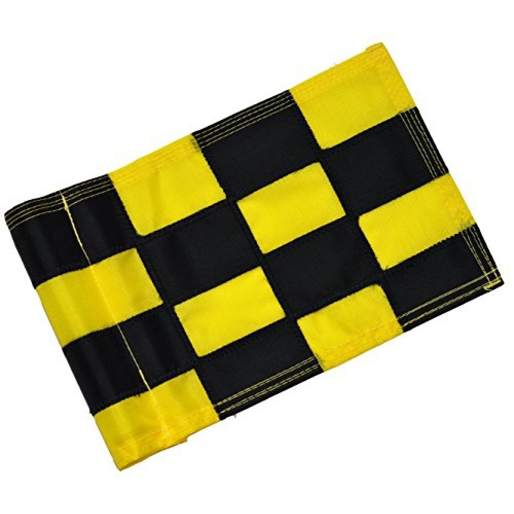 Checkered Flag Black & Yellow Large