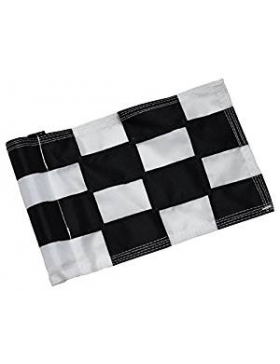 Checkered Flag Black & White Large