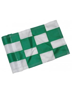 Checkered Flag Green & White Large
