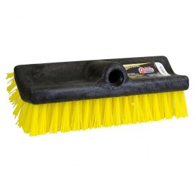 "Broom 10"" Bi-level Brush Yellow/Black"