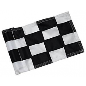 Checkered Flag Black & White Small