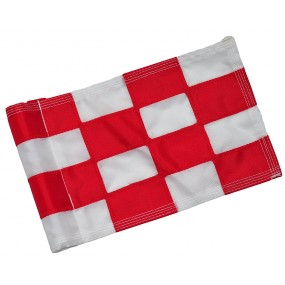 Checkered Flag Red & White Small