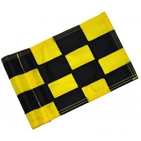 Checkered Flag Black & Yellow Small