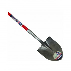 True Temper Red Shovel Round w/ Fiberglass Handle